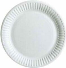Stemen Kartonnen Bordjes Wit 23cm 20st - Wegwerp borden - Feest/verjaardag/BBQ borden