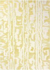 Florence Broadhurst - Waterwave Stripe 39906 Vloerkleed - 170x240 cm - Rechthoekig - Laagpolig Tapijt - Retro - Geel, Wit