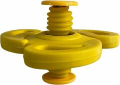 AWR Spinning Jump Spinners Fidget   Spin Flip Spinners   Bouncing Spinner - Geel