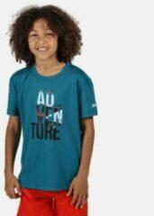Blauwgroene Regatta Childrens/Kids Alvardo V Graphic T-Shirt