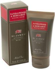 St James of London Scheercrème tube Sandalwood & Bergamot