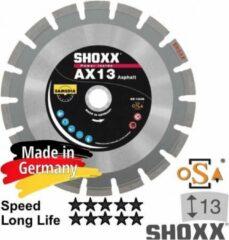 Zilveren Sameda 400x25,4mm Asphalt diamantdoorslijpschijf diamantzaagblaad SHOXX AX13 - 310341