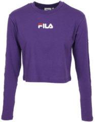Paarse T-shirt Korte Mouw Fila Reva Cropped T-Shirt