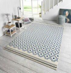 Zala Living Design vloerkleed Cubic - crème/blauw 200x290 cm