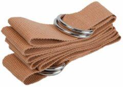 #DoYourYoga - strap voor yogamat - »Yuki« - verstelbare transportriem voor alle standaard yoga-, pilates- en extra dikke fitnessmatten - 196 x 3,7 cm - perzik