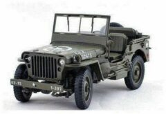 Groene Jeep Willys MB 1941 - 1:18 - Welly