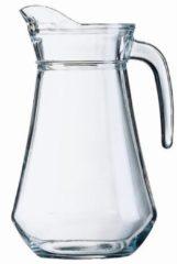 Transparante Shoppartners Schenkkan 1 liter 20 cm - Sapkannen/waterkannen/schenkkannen/limonadekannen van glas