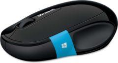 Zwarte Microsoft H3S-00001 muis Bluetooth BlueTrack 1000 DPI Rechtshandig