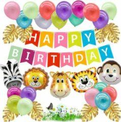 Baloba® Jungle Thema Party Verjaardag Versiering - Safari Decoratie Kinderfeestje - Verjaardag Ballonnen