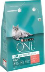 Purina One Adult Zalm&Granen - Kattenvoer - 3 kg - Kattenvoer