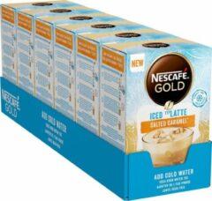 Nescafé Gold Iced Salted Caramel Latte oploskoffie - 6 doosjes à 7 zakjes