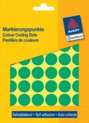 Avery Etiket Zweckform 18mm rond blister 22 vel a 48 etiketjes groen