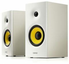 Edifier 2.0 RMS 24W Multimedia luidspreker Bluetooth 5.0 2x Aux in RMS 2x 12W Laag/Midden: 4i Hoog: 0.75i Magn. Afgesch. Houtenbehuizing