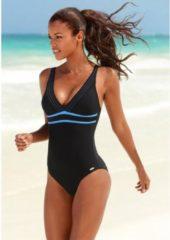 Zwarte Venice Beach badpak met trendy logoprint