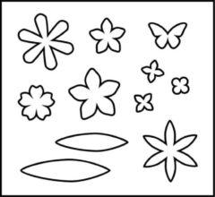 Snijmal afm 14x15 25 cm dikte 15 mm bloemen 1stuk