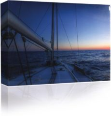 Blauwe Sound Art - Canvas + Bluetooth Speaker Boat On The Sea (41 x 51cm)