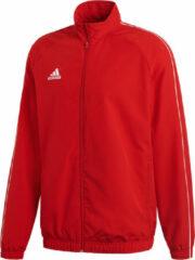 Adidas Core18 Trainingsjas Heren Sportjas - Maat S - Mannen - rood
