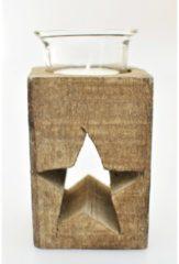Teelichthalter Stern HTI-Line Braun