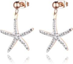 Roze Cilla Jewels Zeestervormige Damesoorbellen met Kristallen