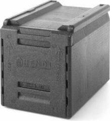 Zwarte Hendi Thermo Catering Box - 66 Liter - 60x40x(H)49cm