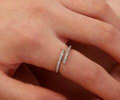 Fashion Jewelry Steentjes ring | zilver gekleurd