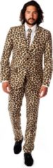 OppoSuits The Jag - Mannen Kostuum - Beige - Carnaval - Maat 54