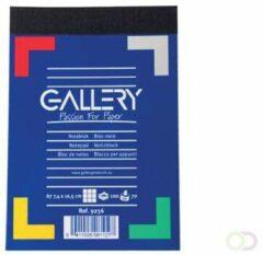 Gallery notitieblok formaat 74 x 105 cm (A7) geruit 5 mm blok van 100 vel