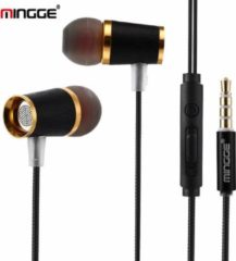 M21 High Bass In-Ear Oordopjes met 3.5mm Jack Oortjes voor Apple iPhone / Samsung Galaxy / Huawei - zwart
