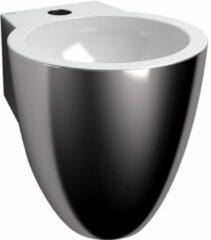 Clou Flush 6 fontein met kraangat plug en bekersifon platina wit keramiek B27xH28xD31.5cm CL/03.14060