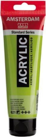Afbeelding van Royal Talens Amsterdam Standard acrylverf tube 120ml - 621 - Olijfgroen licht - halfdekkend