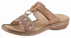 Rieker - 628m0 - Elegante slipper - Dames - Maat 36 - Cognac - 22 -Noce Slight Velour