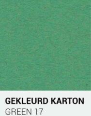 Gekleurdkarton notrakkarton Gekleurd karton groen 17 A4 270 gr.