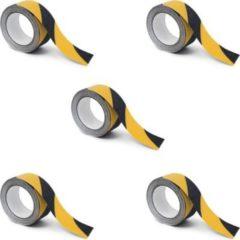 Relaxdays 5er Set Warn-Klebeband antirutsch Antirutschstreifen 50mm Grip Tape Rutschschutz