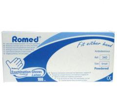 Romed Latex handschoen niet steriel gepoederd S 100 Stuks