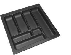 Zwarte Culinorm Storex Bestekbak - 49 cm breed x 49 cm diep - Carbon Black