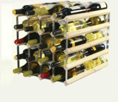 RTA Wineracks RTA Wijnrek blank hout 40 flessen dubbele diepte