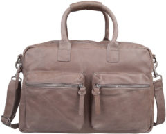 Grijze Cowboysbag De originele schooltas werktas The Bag Elephant Grey