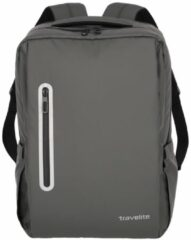 Grijze Travelite Basics Boxy Waterproof Backpack anthracite Laptoprugzak