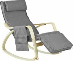 Grijze Simpletrade Schommelstoel - Ligstoel - Verstelbaar voetensteun - Afneembare hoes - 56x90x80 cm