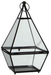 Edelman Montfoort Mica Decorations lois lantaarn zwart maat in cm: 22 x 21 x 39 Zwart