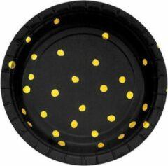 Zwarte Creative Converting Bordjes black velvet foil (˜18cm, 8st)