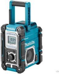 Makita DMR108 FM Bouwradio AUX, Bluetooth Spatwaterbestendig Turquoise, Zwart