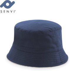 Beechfield Reversible Bucket Hat Maat L/XL Blauw Wit