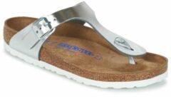 Zilveren Birkenstock - Gizeh - Sportieve slippers - Dames - Maat 35 - Zilver - Metallic Silver LE