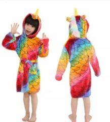 Sas Fins Badjas Unicorn, Rainbow style. Maat 140cm