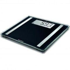 Zwarte Soehnle personenweegschaal PWD Shape Sense Control 100, lichaamsanalyseweegschaal