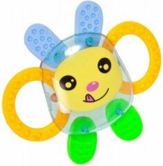 Gele BamBam Bam Bam rammelaar konijn - baby / peuter speelgoed kinderen - schattig diertje