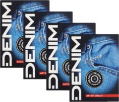 Denim Original Aftershave lotion 4 x 100 ml