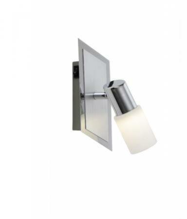 Afbeelding van Trio Serie 8214 Spotlamp 1x45W 3000K Aluminium Wit LED + Wipschakelaar|Voetschakelaar 821470105