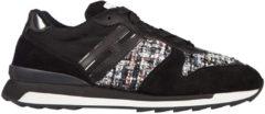 Nero Hogan Rebel Scarpe sneakers donna camoscio r261 allacciato
